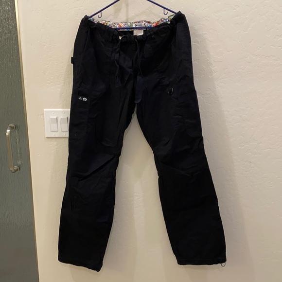 Black Size L/Long Koi Lindsey Scrub Pant